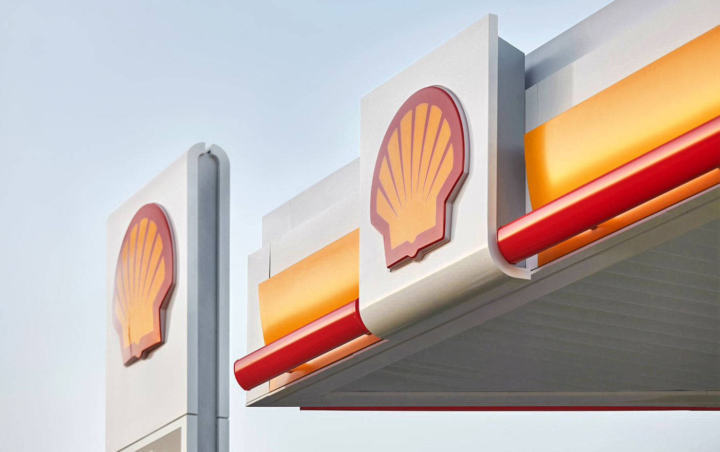 Shell logo at Shell filling station