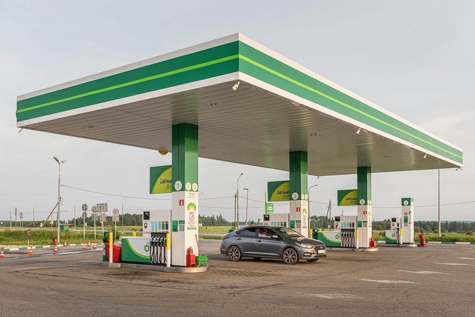 BP Filling station in Moscow region