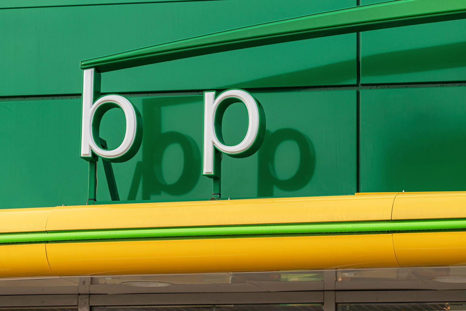 BP logo at a BP Filling station